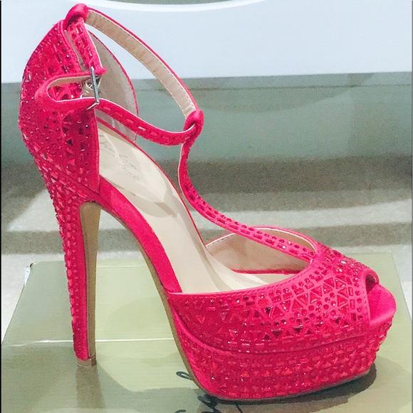 b0efed4fc0a Thalia Sodi Florred1 Embellished Platform Sandals.  M 5ad78ee26bf5a614dea6ecbc